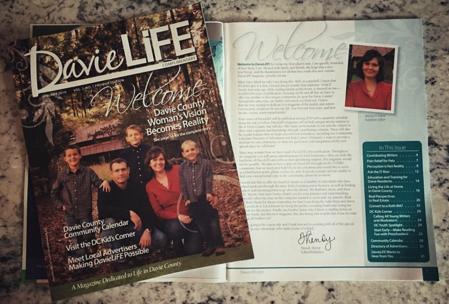 First issue of DavieLiFE magazine, 2010