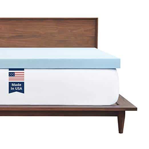 twin xl 2 inch gel foam mattress pad for dorm