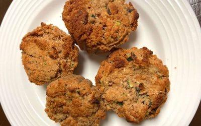 Delicious Zucchini Bread Muffins (gluten free with Date Paste)