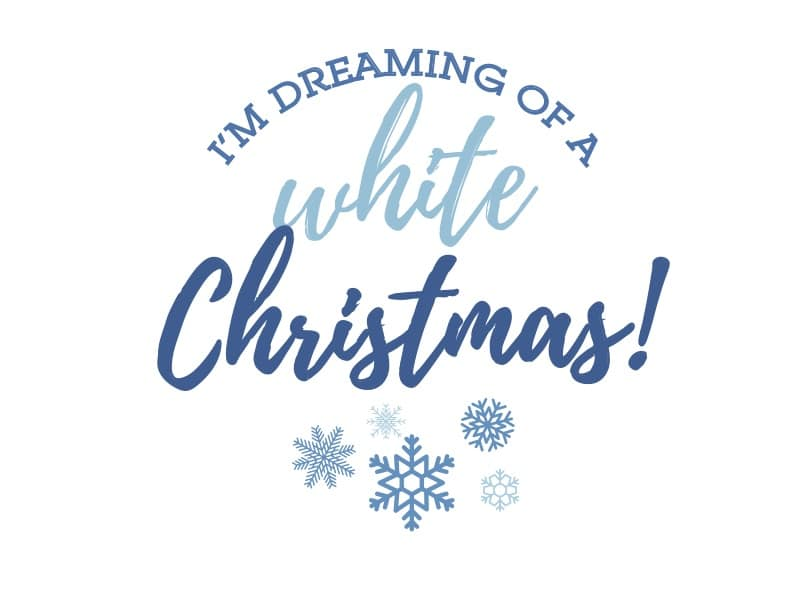 white Christmas printable