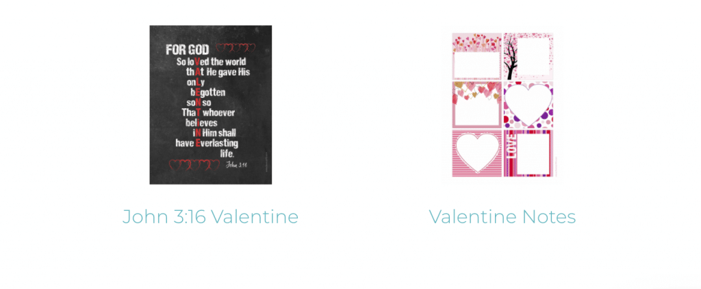 free Valentine's Day printable John 3:16 and love note